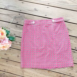 Stretchy Skirt PINKS Cotton Blend Pink Posies 14